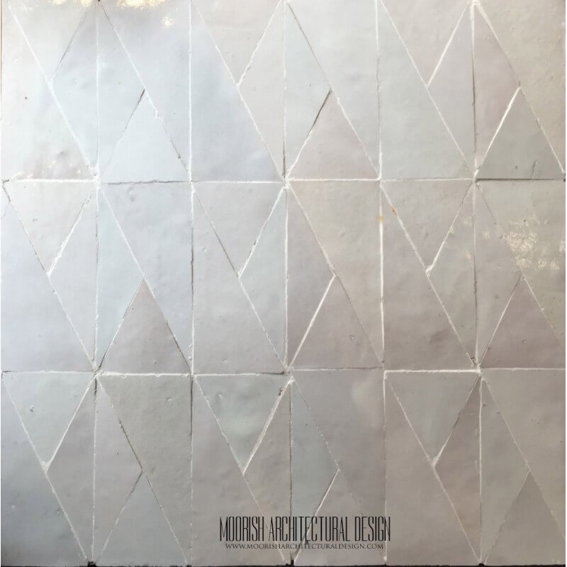 White Moroccan Bathroom tile design ideas