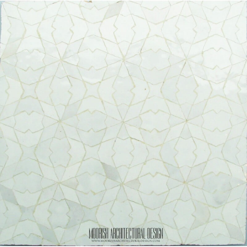 Moroccan White mosaic tile kitchen