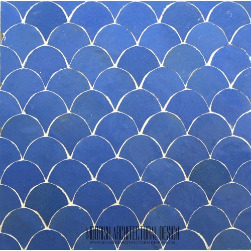 Blue Fish Scales Tile