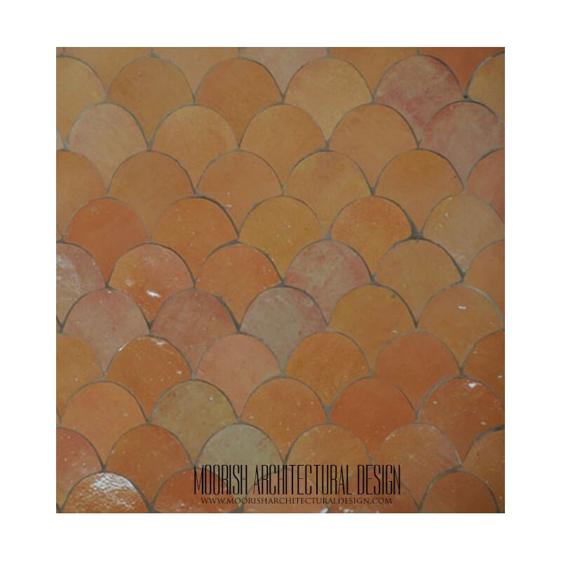 Moroccan fish scales pool tile