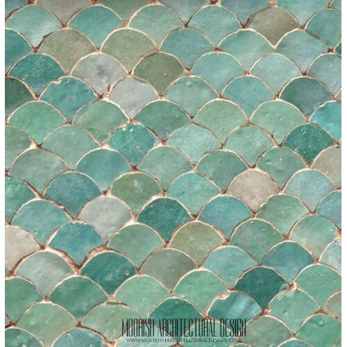 Moroccan Fish Scales Shower Tile