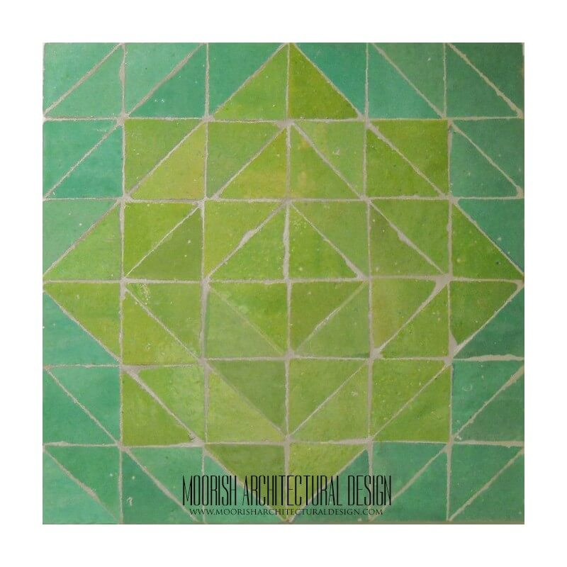 Green Moroccan backsplash tile design