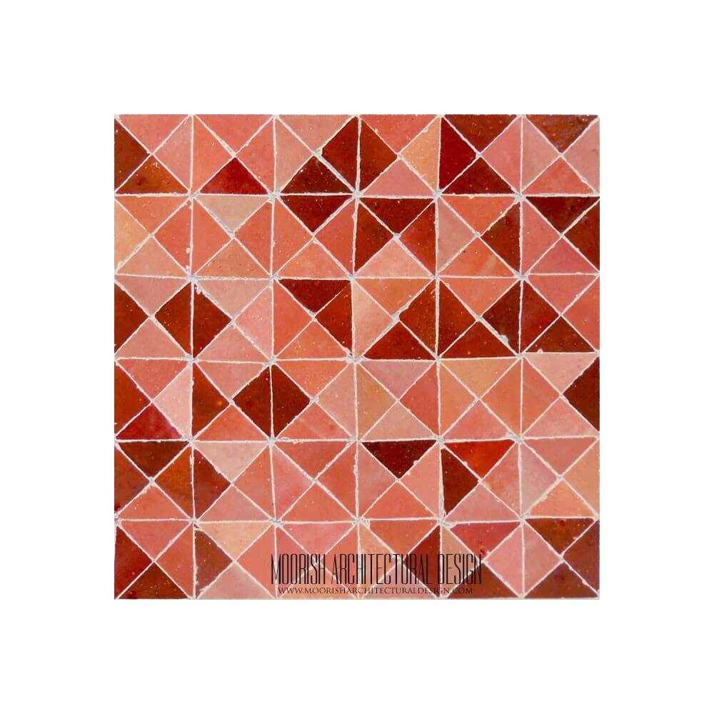 Red Moroccan Mosaic Tile Floor