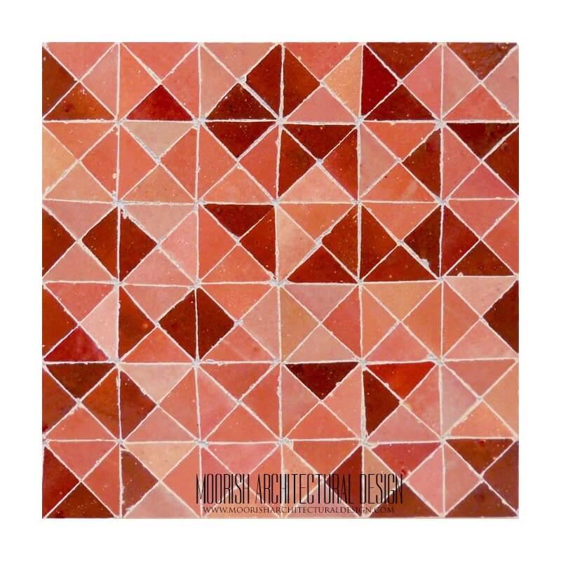 Red Moroccan mosaic tile floor