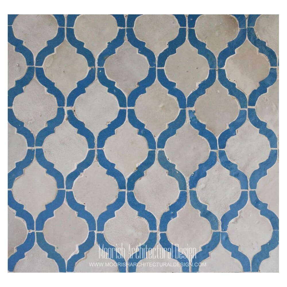 Kitchen Backsplash Blue Arabesque Tile