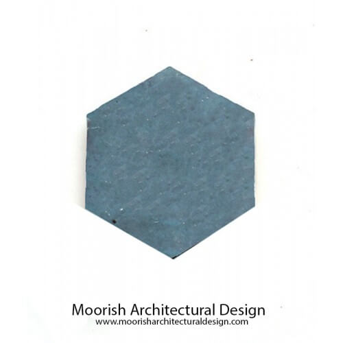 Teal Blue Hexagon Tile