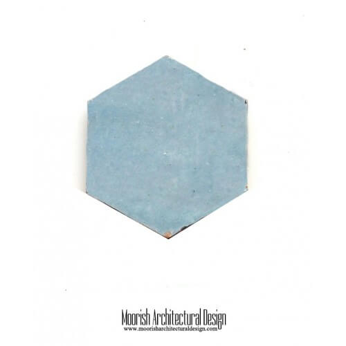 Pear Blue Hex Tile