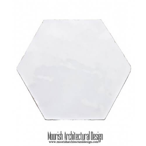 White Hex Tile