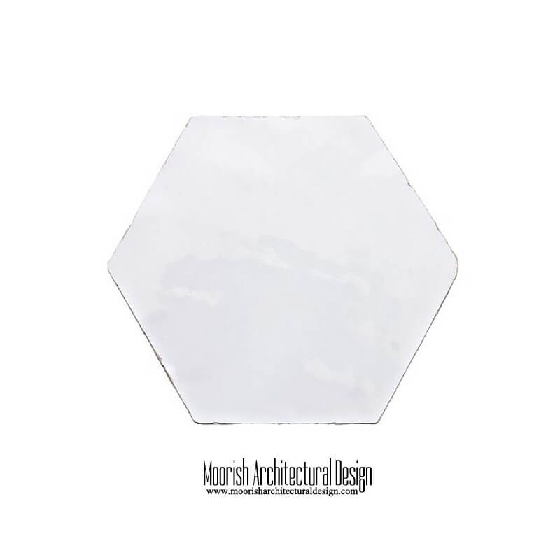 White Moroccan Hex Tile