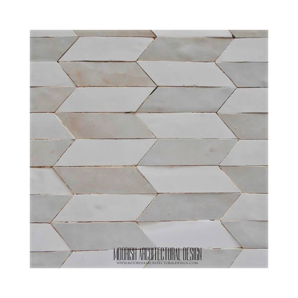 White Zellige Bathroom Tile