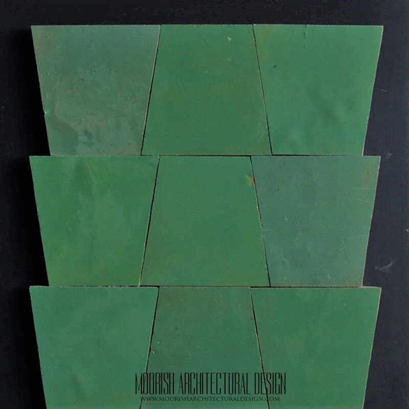Green Zellige Tile mosaic