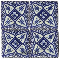 Blue Moroccan Shower Tile
