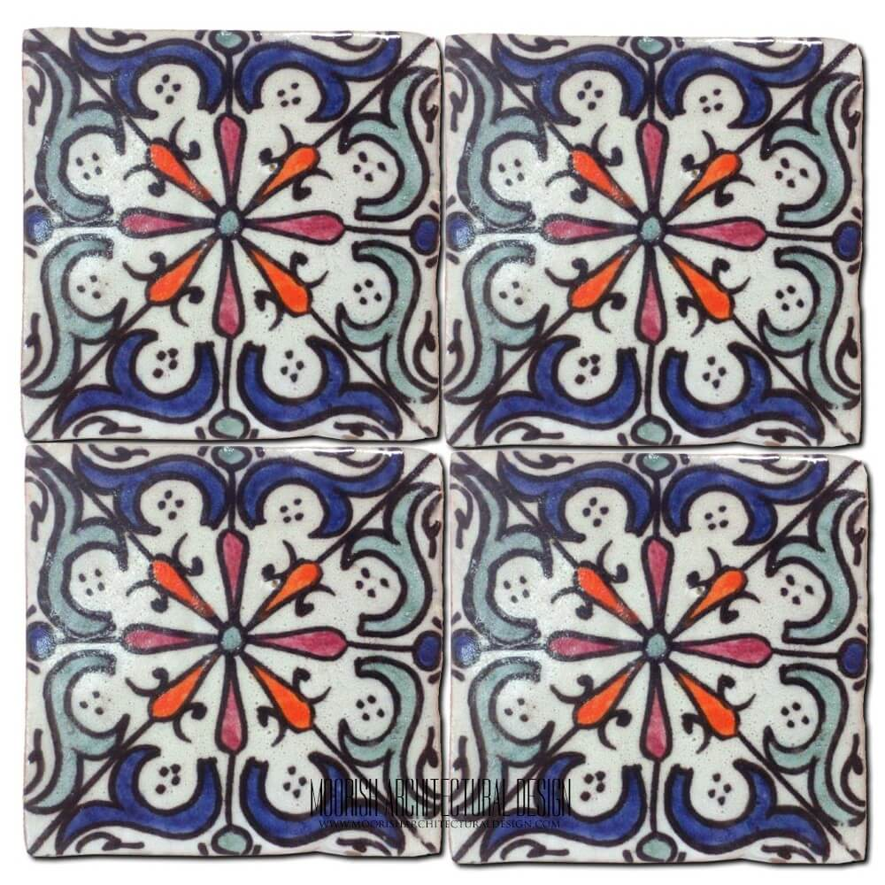 Hand Painted Spanish Roof Tiles