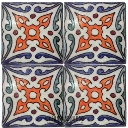 Moroccan Hand Painted Tile 26