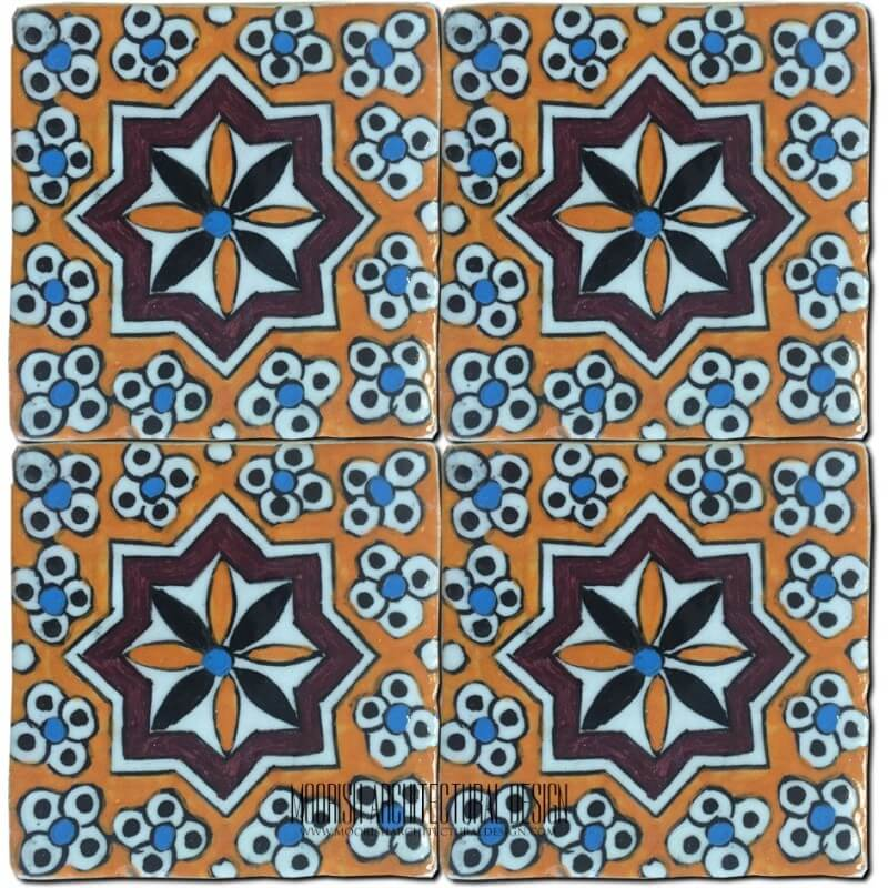 Portuguese Decorative Tile Hand Painted Ceramic Tile