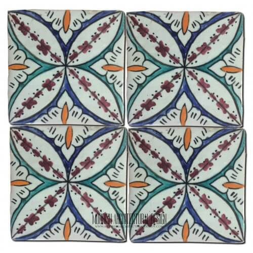 Moroccan Hand Painted Tile 32