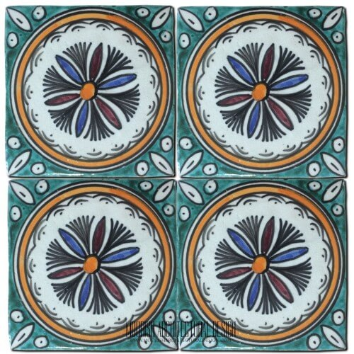 Moroccan Hand Painted Tile 40