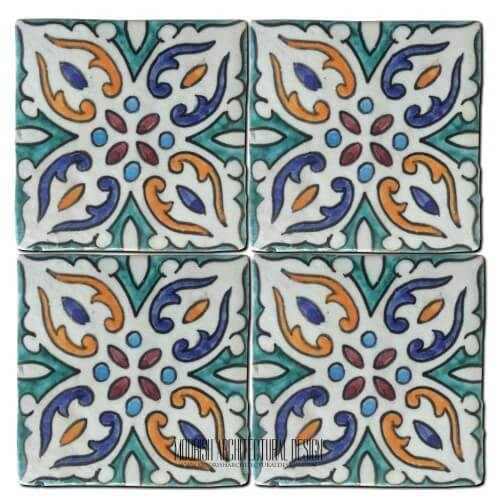 Moroccan Hand Painted Tile 41