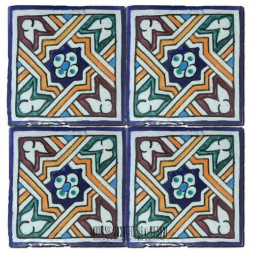 Moroccan Hand Painted Tile 43