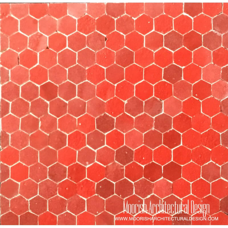Red Hexagon Tile