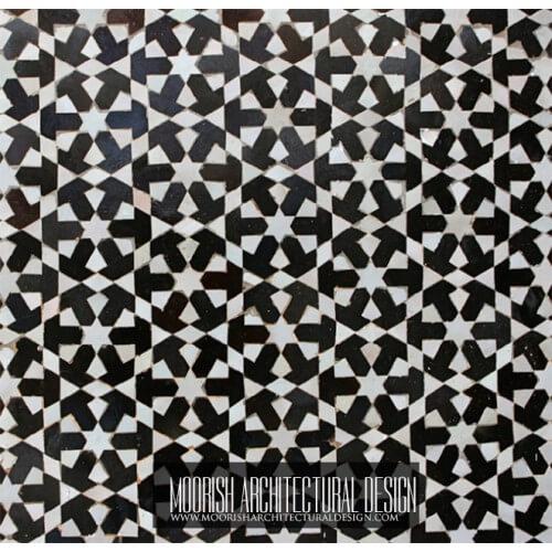 Moroccan Monochrome Tile 06