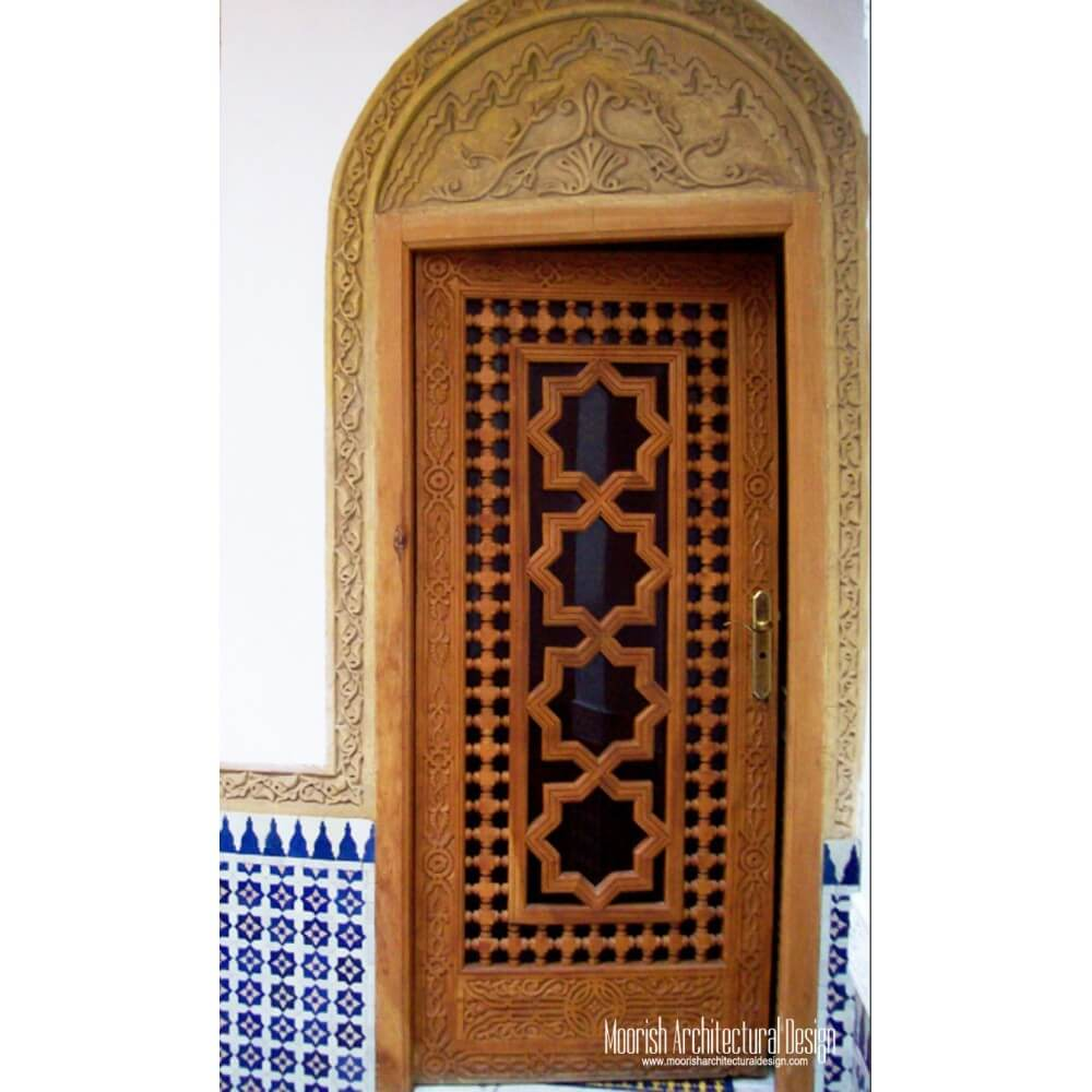 Moorish Door Moroccan Entry Door Mediterranean Front Door