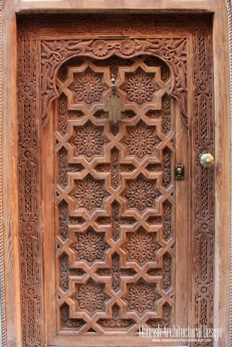 Moroccan Front Door - Moorish Entry Door - Antique Doors - Antique Moroccan Doors Antique Furniture