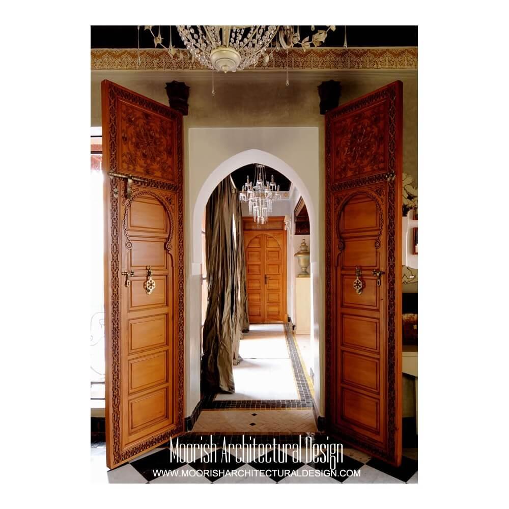 Moroccan Interior and Closet Doors | Moorish Front Door