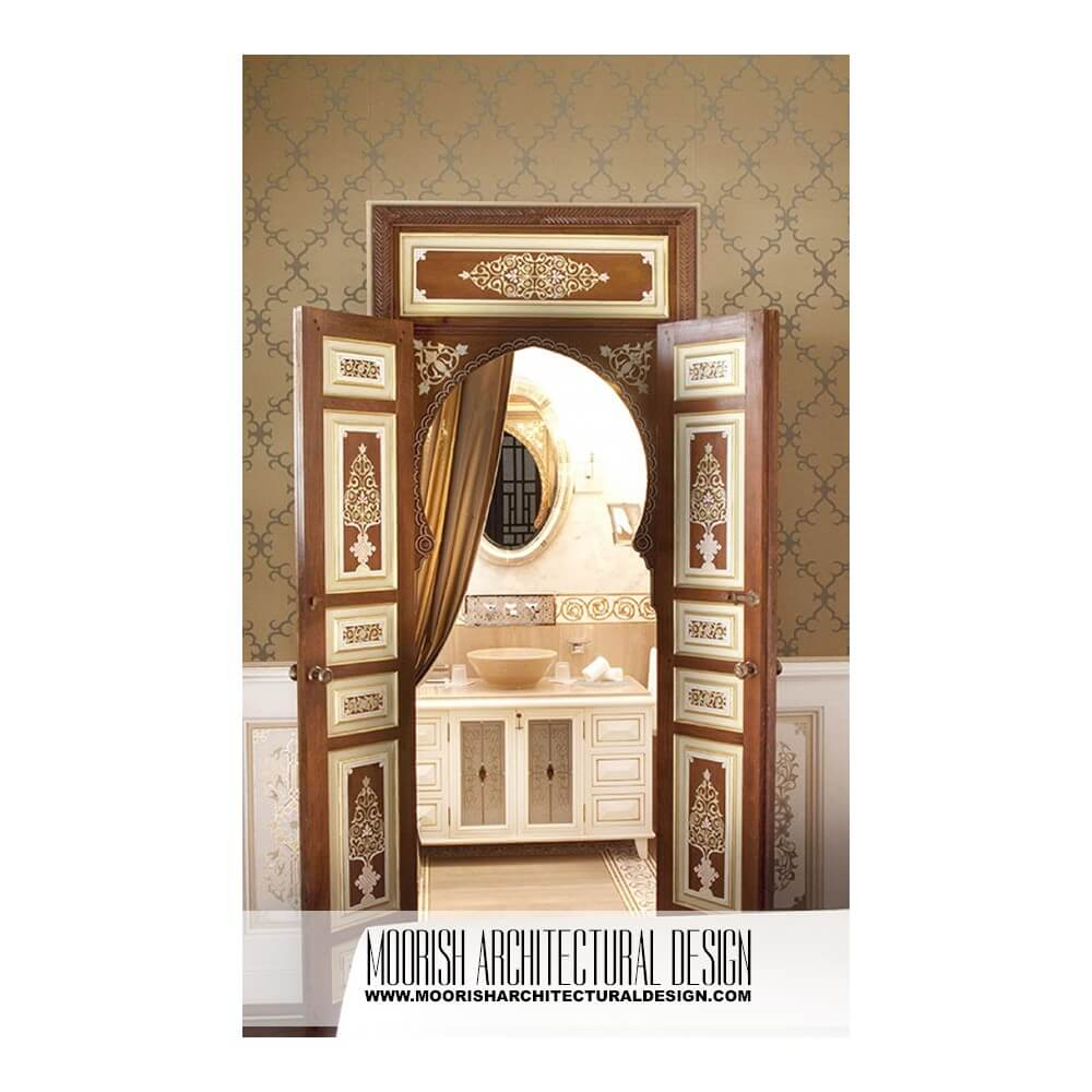 Moroccan cedar door  sc 1 st  Moorish Architectural Design & Spanish Cedar wood doors - Moroccan Bedroom Door - Moorish Closet ...