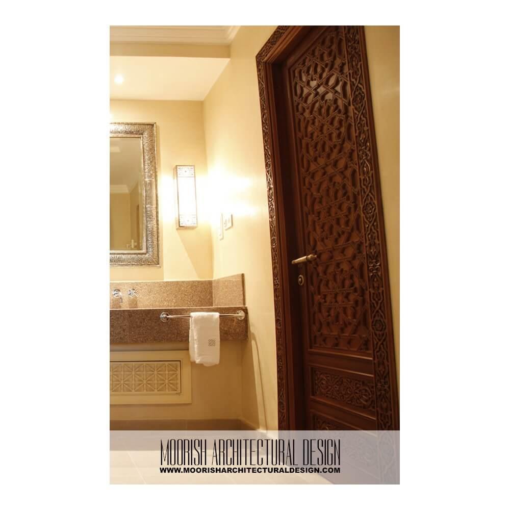 Moroccan Bathroom Door Mediterranean Entry Door