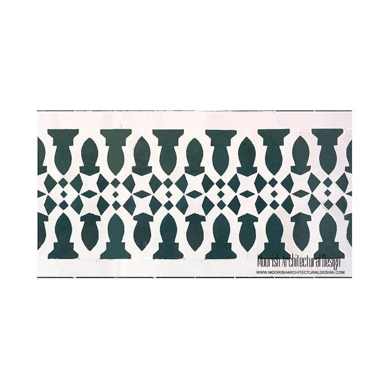 Moorish Waterline Tile Design