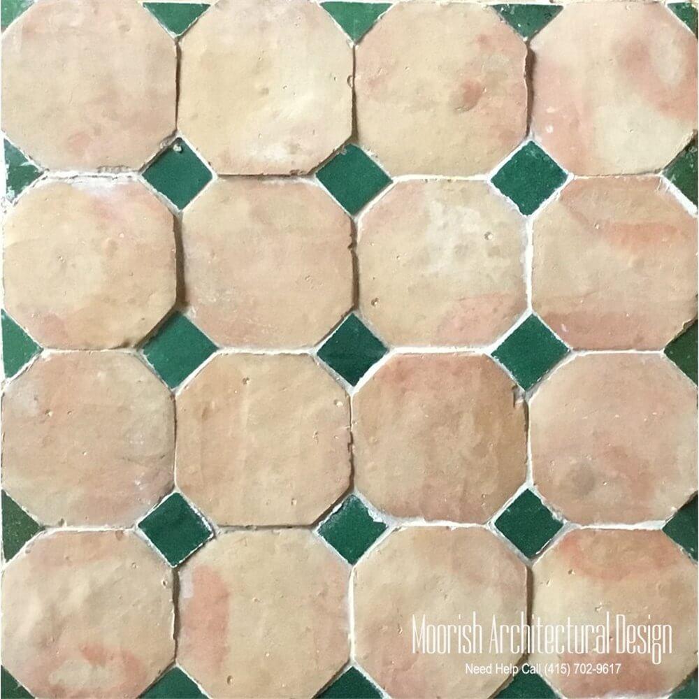 Octagonal Moroccan Terracotta Floor Tile Mediterranean Tiles