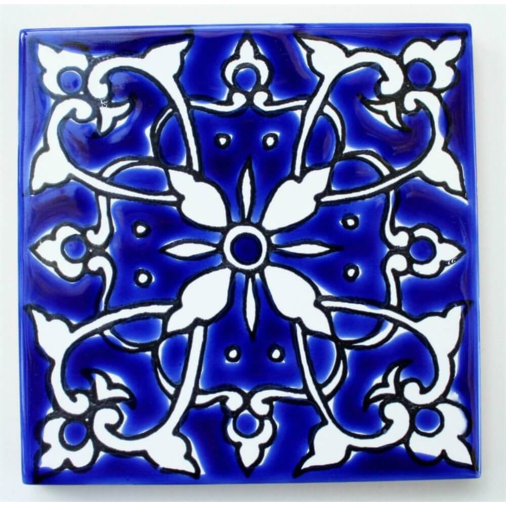 Blue Mediterranean Ceramic Tile - Bathroom Tiles - Kitchen Backsplash