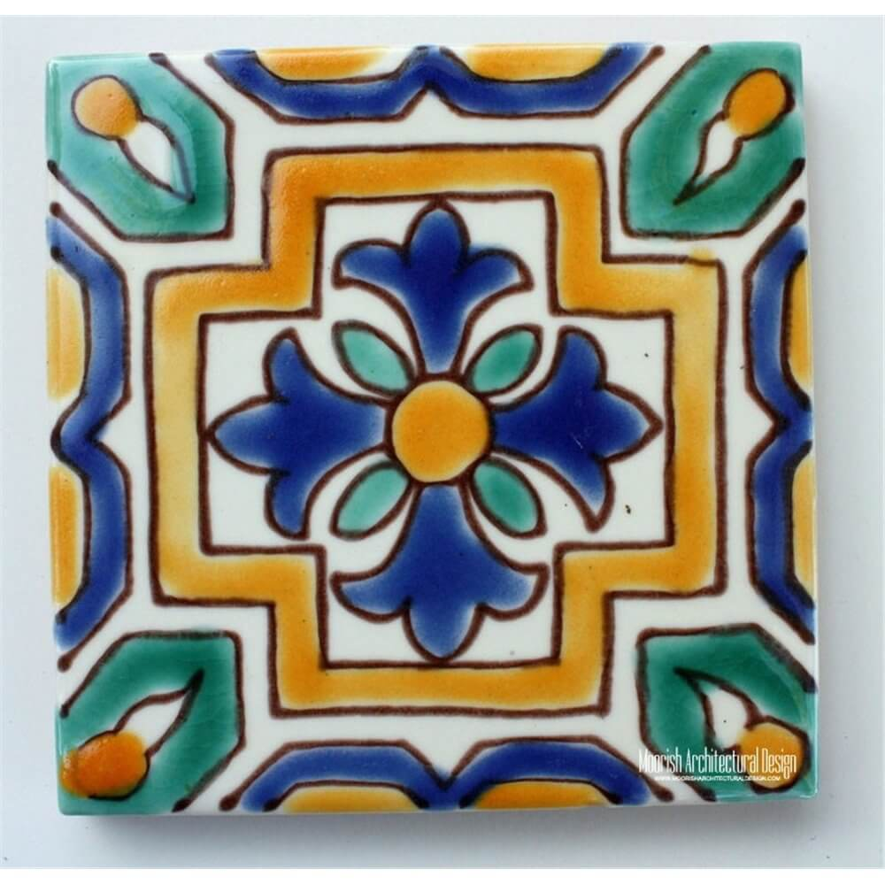 Green And Blue Mediterranean Tiles Spanish Colonial Tile