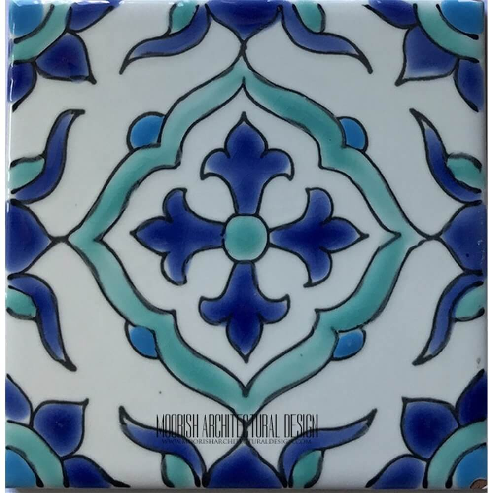 Tunisian Tiles Mediterranean Pool Tiles Pool Waterline