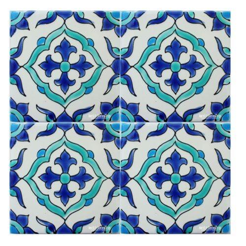 Tunisian Tiles Mediterranean Pool Tiles Pool Waterline