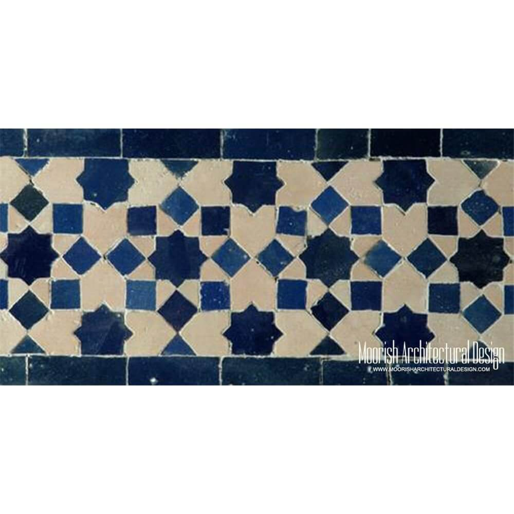 Moroccan Waterline Pool Tiles Los Angeles
