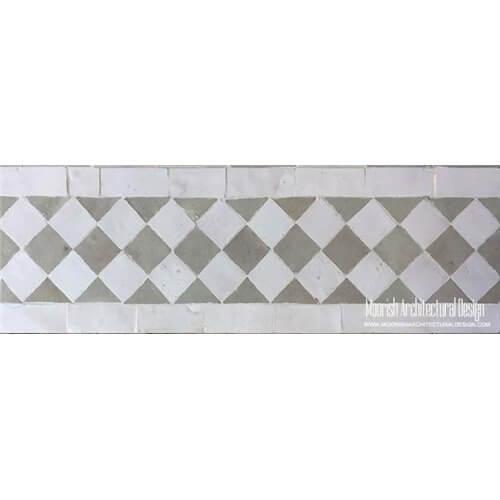Moorish Style Tiles for Pool Waterline