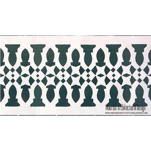 Moorish Waterline Tile Design
