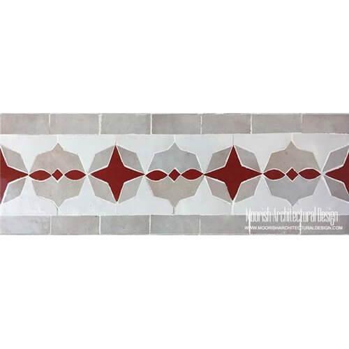 Moorish style pool tiles
