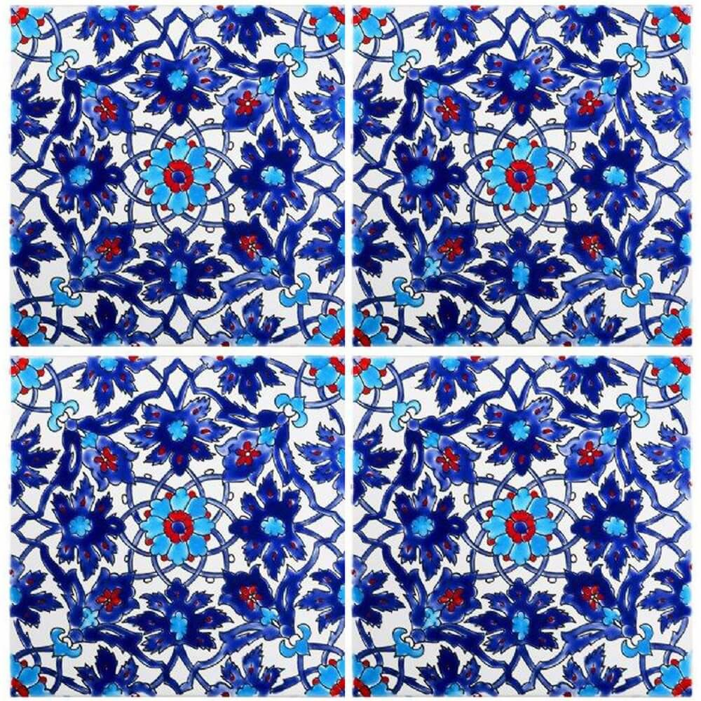 Blue Persian Tiles Iznik Tile Waterline Tile Ideas