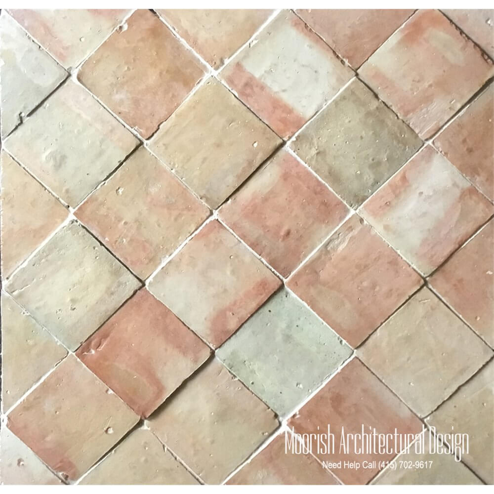 Terracotta tiles moroccan clay tiles 4x4 moroccan terracotta dailygadgetfo Choice Image