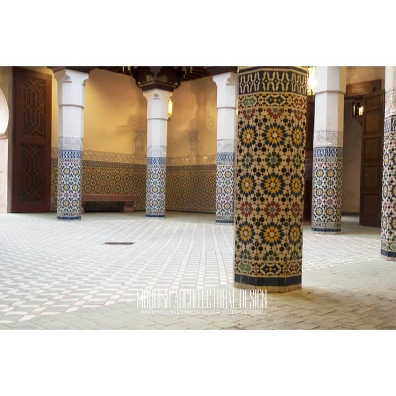 Spanish Colonial Tile Column Moorish Column Moroccan Column