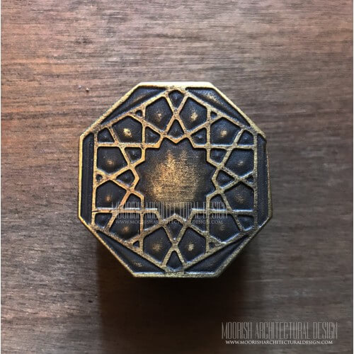Brass Cabinet Knobs | Moroccan Brass Furniture Handles for Sale
