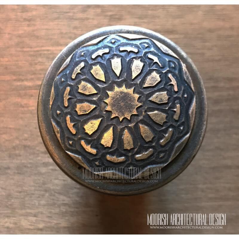 Moorish Brass Cabinet Knob