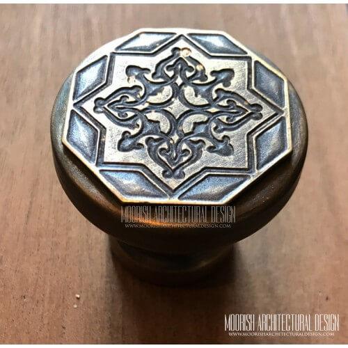 Moroccan brass hardware