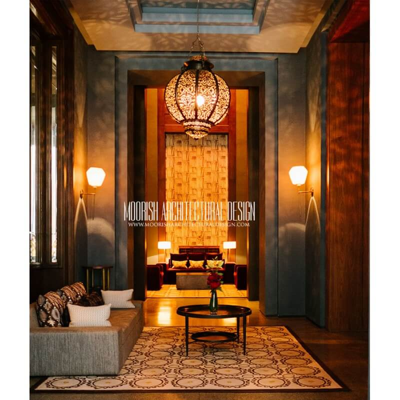 Moroccan bar lighting