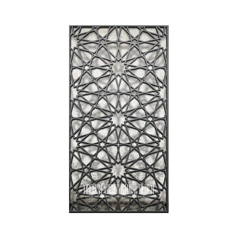 Islamic Geometric Lattice Pattern