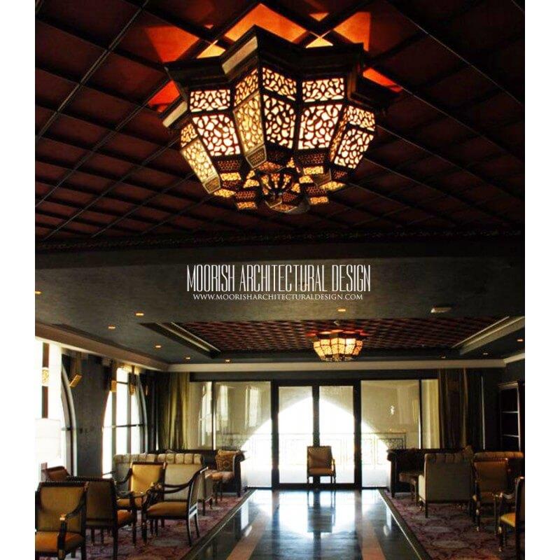 Custom hotel ceiling lights