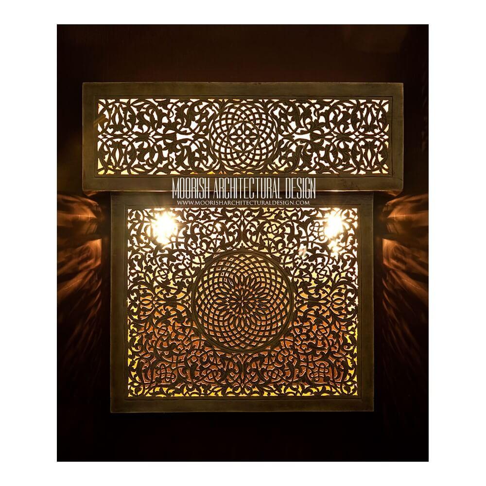 Luxury Bathroom Vanity Wall Lights Moorish Lighting Los Angeles